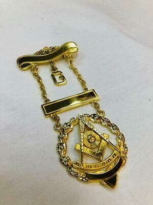 Past Master Jewel With Wreath Gold, Past Master Jewel, Masonic Jewels