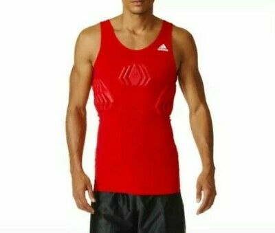 Adidas Techfit Basketball Padded Compression Tank $55 Men's Size XL Red S05380