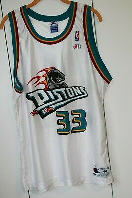 100% authentic 44370 b36bd VTG CHAMPION JERSEY Detroit Pistons Grant Hill #33 NBA 90s Men's 44  Throwback