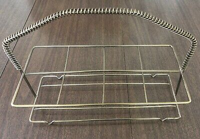 Vintage Barware Mid Century Metal Glass Cup Caddy Holder