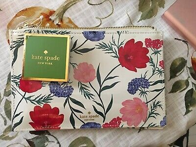 Kate Spade New York Blossom Pencil Pouch 6 Pieces NWT