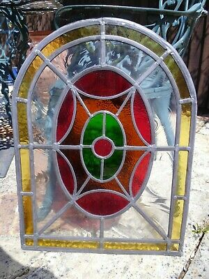 1 STAINED GLASS PANEL Leaded coloured glass from France 8 available - beautiful