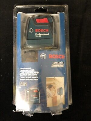 Bosch 30 ft. Self-Leveling Cross-Line Laser Level GLL 30 NEW and Sealed