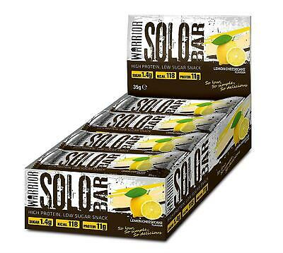 Warrior Solo Protein Bars Box Of 12 High Protein Low Carb Bars (Lemon