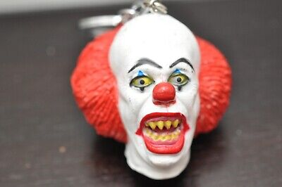 "Rare Stephen King ""IT"" Pennywise Clown Scary Keyring/Keychain Horror Monster"