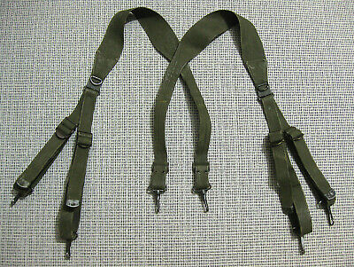 US Army WW2 M1936 Combat Suspenders first version OD