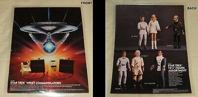 Star Trek The Motion Picture Mego wrist communicators and figures ads laminated