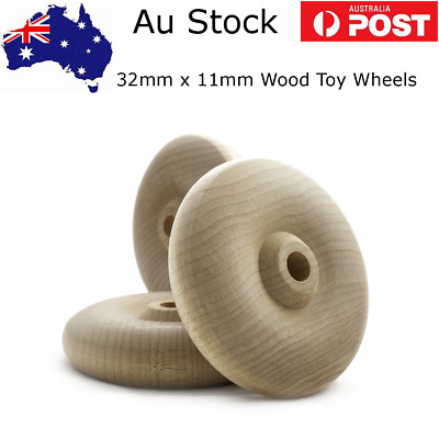 Wooden Toy wheels (TW1250) (32mm) x (11mm) Packs of 4,6 or 12 & Axle Pegs