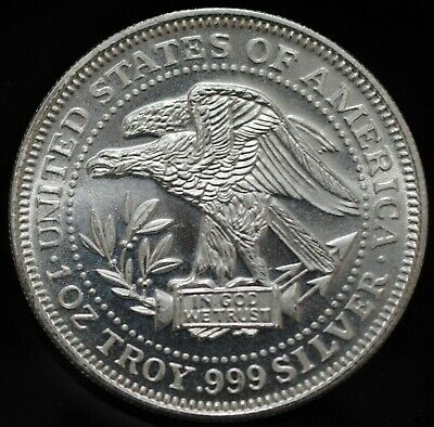 USA 1 Troy Ounce .999 Silver Round, Silver Trade Unit Northwest Territorial Mint
