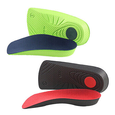 2 X Heel Lift Taller Shoe Inserts Height Increase Insoles Pads Anti-slip Support