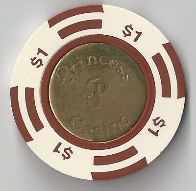 $1 Cruise Line Princess Casino Chip Coin Inlay Water Brass