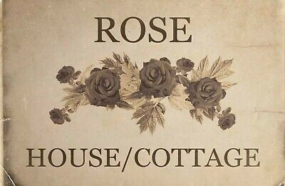 Custom Personalised Old Rose House Cottage Aluminium Sign Door Plaque 5 Sizes