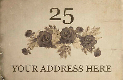 Custom Personalised Old Rose Address Cottage Aluminium Sign Door Plaque 5 Sizes