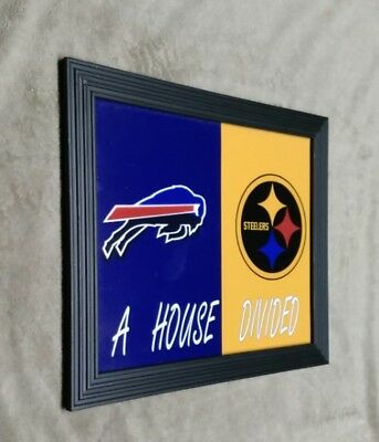 Buffalo Bills Pittsburgh Steelers HOUSE DIVIDED Framed 8x10 Photo