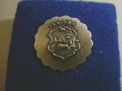 Vintage Indiana State Seal Lapel/Hat Pin   s235