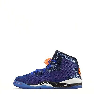Air Jordan Spike Forty Junior Lace up Trainers Shoes Blue/Orange