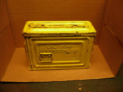 Vintage WW2 Reeves 30 Cal M1 Ammo Ammunition Box Can Flaming Bomb Belted