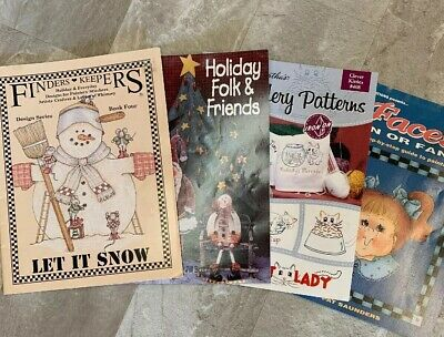 Crafting Books Lot Of 4 /Embroidery/Paint /Wood /Stitchers/Winter & Holidays