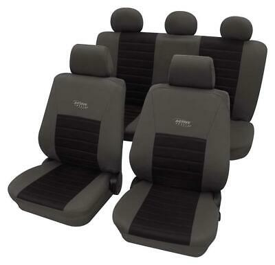 Sports Style Grey & Black Seat Cover set For Citroen Ax 1986-1998