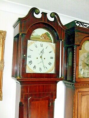 Super 8 day Georgian mahogany and oak longcase clock c1810 Wm Fryer of York GWO