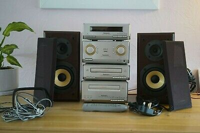 Technics HD350 Full Stereo System,Speakers,Remote, Aux Cable,Antenna - Good