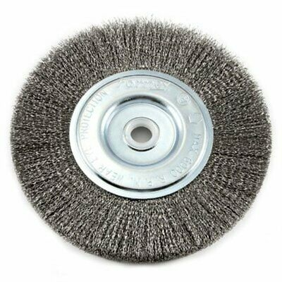 Forney 72747 Wire Bench Wheel Brush, Fine Crimped With 1/2-Inch And 5/8-Inch Arb