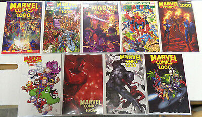 Marvel Comics #1000 Variant Lot of 9 (2019) Marvel VF/NM to NM