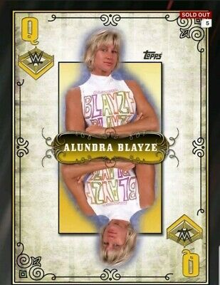 Topps WWE Slam Digital Card Gold Alundra Blayze queen of the ring award
