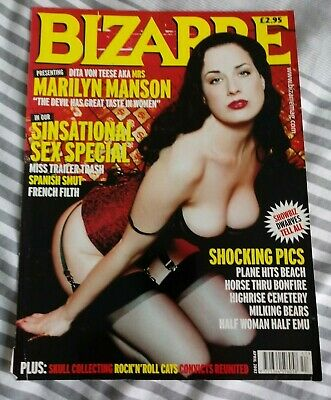 Dita Von Teese Bizarre Magazine Cover & Article Clippings Cuttings Fetish