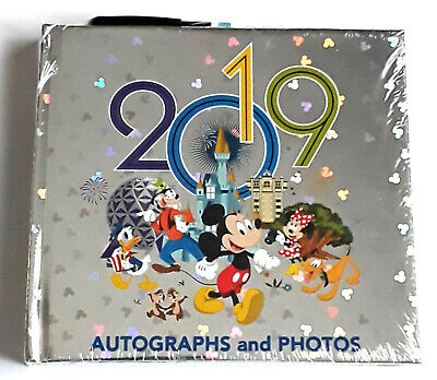 Walt Disney World Parks 2019 Mickey & Friends Autograph Book Photo Album & Pen