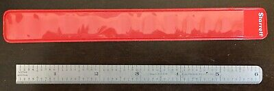 "Vintage L.S. Starrett No. C305R Tempered Steel Rule. 6"" Flexible.  FREE SHIPPING"
