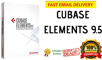 🔥Steinberg Cubase ELEMENTS 9.5 ☑ upgrade to 10 ♨️ Music Production/Recording 🔥