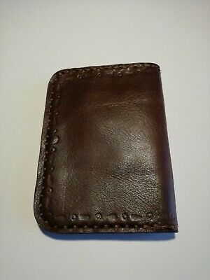 minimalist mens wallet artisan handmade real leather cowhide