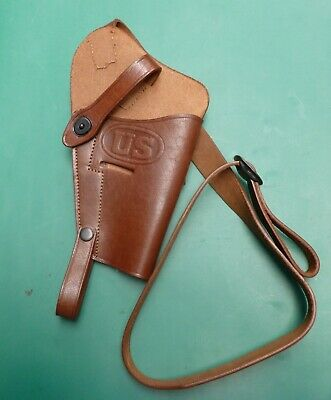 Leather Replica US Army WW2 M3 chest holster for Colt 1911 .45 & S&W Victory .38