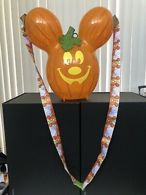 New Disney Halloween Party Pumpkin Balloon Popcorn Bucket Disneyland