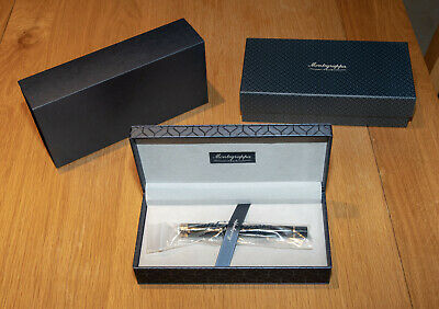 Montegrappa Ducale Rollerball Pen, Black Resin with Rose Gold Trim