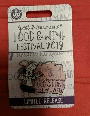 Disney Pin EPCOT International Food and Wine Festival 2019 Limited Release Logo