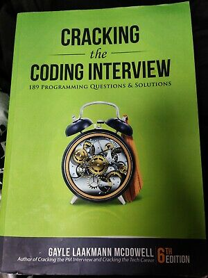 Cracking the Coding Interview: 189 Programming Questions and Solutions 6th ED