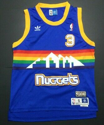 separation shoes 0194b f0df5 DENVER NUGGETS ALLEN Iverson Adidas Hardwood Classics Jersey ...