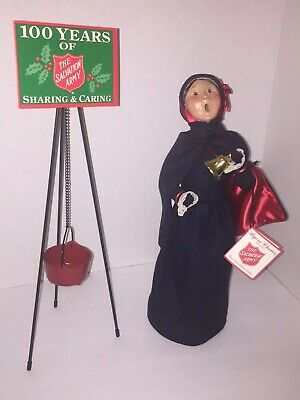 """Byers Choice New Salvation Army Kettle Stand /& Sign14/"""" Accessory Mint Brand New"""