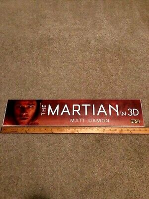 2015 The Martain 3D 5x25 Large Movie Theater Mylar Single-Sided