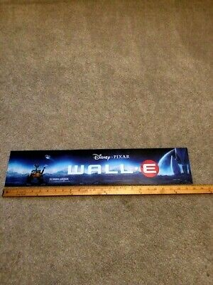 2008 Disney's Wall*E 5x25 Large Movie Theater Mylar Double-sided