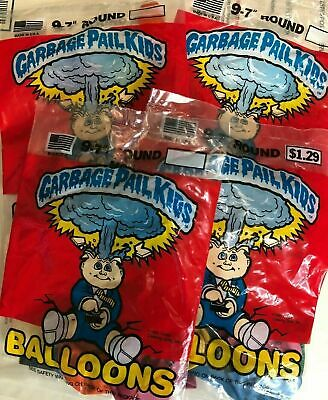 Vintage 1986 Garbage Pail Kids Balloons Lot of 4 Packs GPK Adam Bomb 1980s