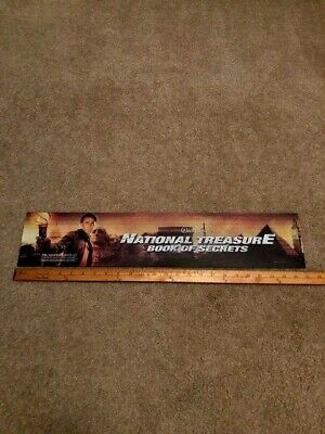 2007 Disney's National Treasure 2  5x25 Large Movie Theater Mylar Double-Sided