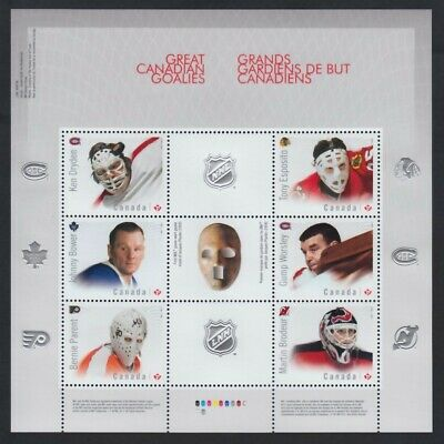 HOCKEY = NHL GOALIES = Minisheet of 6 different stamps Canada 2015 #2866 MNH VF