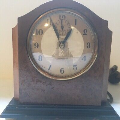 VTG Hammond Chronmaster Electric Mantle/Shelf Clock Model #708AB - Parts/Repair