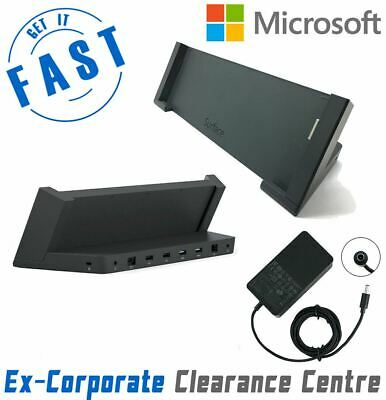 Genuine Microsoft Surface Pro 4 1664 Docking Station + Charger -Great Cond