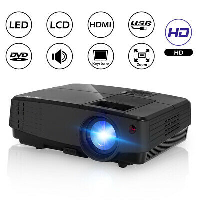 Super Clear Portable Home Theater HD Video Projector 2500 Lumens Support 1080P