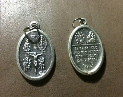 Vintage Oval 4 - Way Religious Medal Catholic Devotional Medal
