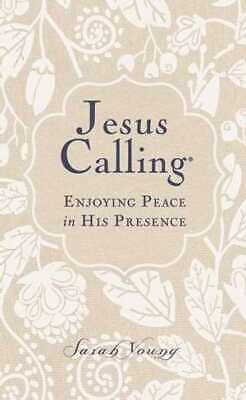 Jesus Calling (Deluxe Edition) Large Print-White Linen Fabric Over Board